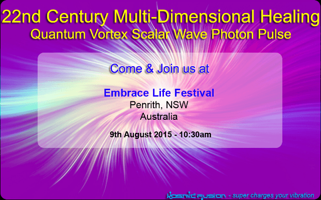 22nd Century Multi-dimensional Healing with Quantum Vortex Energy Penrith NSW Australia August 2015